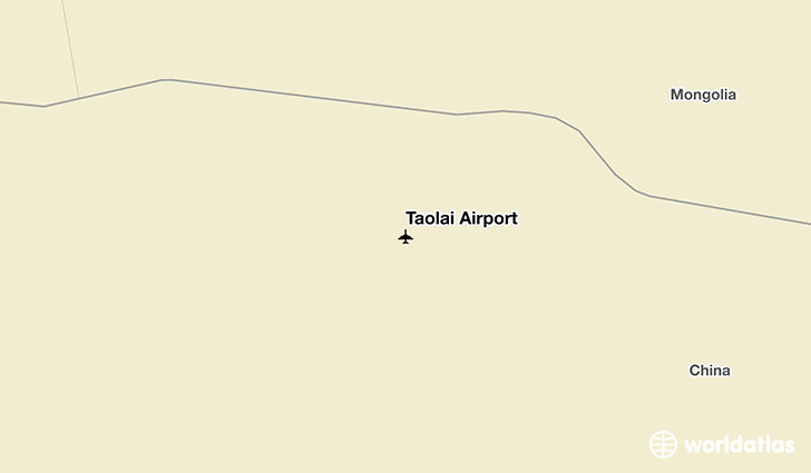 Taolai Airport location on a map