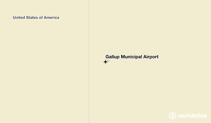 Gallup Municipal Airport location on a map