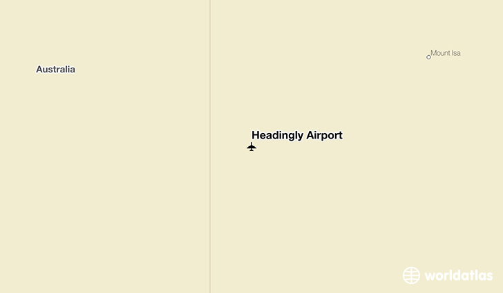 Headingly Airport location on a map