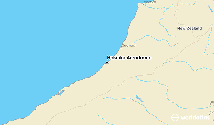 Hokitika Aerodrome location on a map