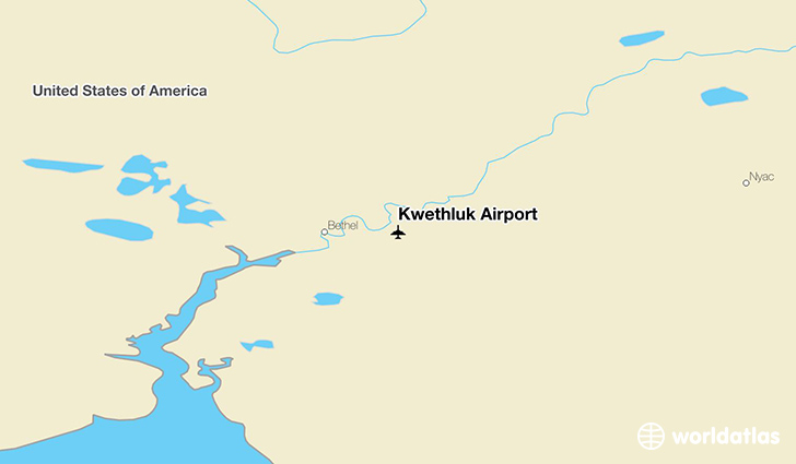 Kwethluk Airport location on a map