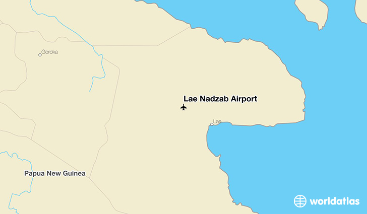 Lae Nadzab Airport location on a map