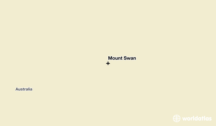 Mount Swan location on a map