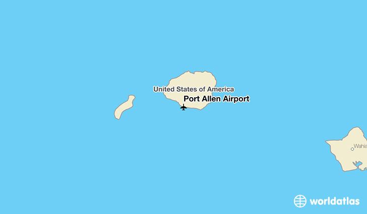 Port Allen Airport location on a map