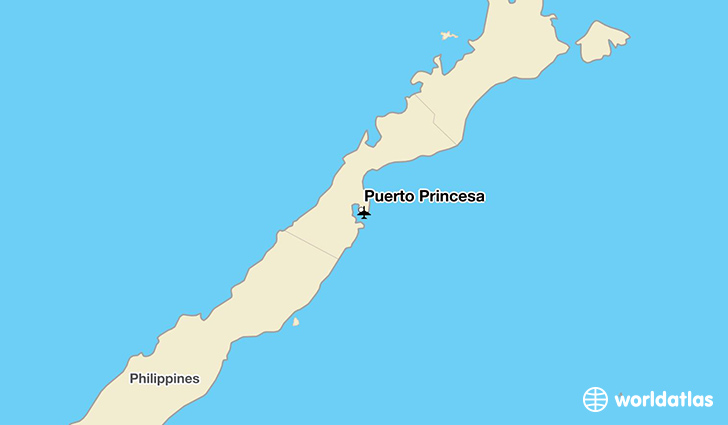 Puerto Princesa location on a map