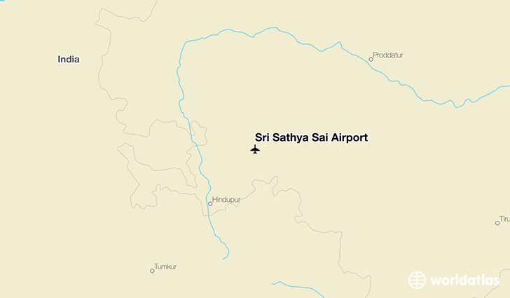 Sri Sathya Sai Airport location on a map