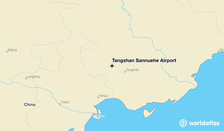 Tangshan sannhe airport tvs worldatlas tangshan sannhe airport location on a map gumiabroncs Image collections