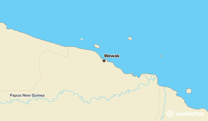 Wewak location on a map