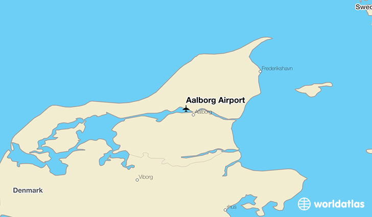 Aalborg Airport location on a map