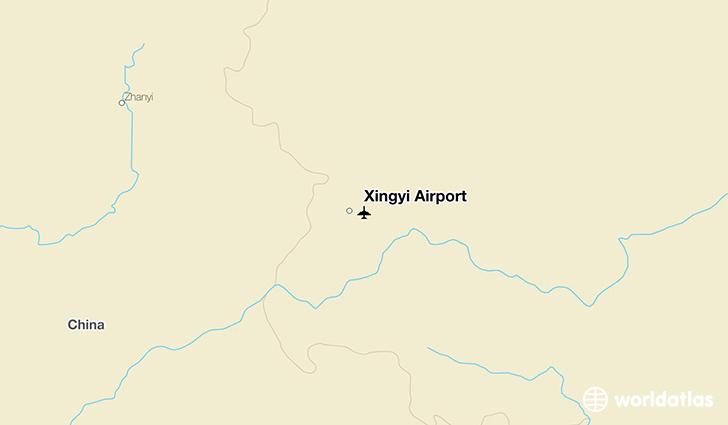Xingyi Airport ACX WorldAtlas - Xingyi map