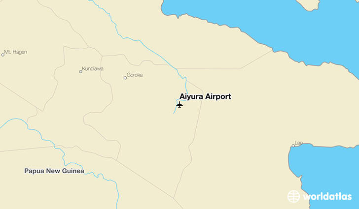 Aiyura Airport location on a map