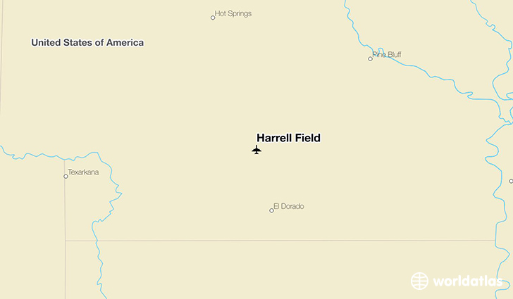 Harrell Field location on a map