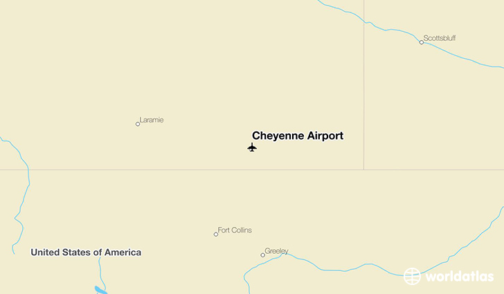 Cheyenne Airport location on a map
