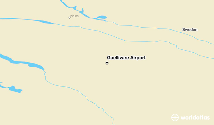Gällivare Airport location on a map
