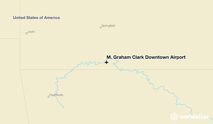 M. Graham Clark Downtown Airport location on a map
