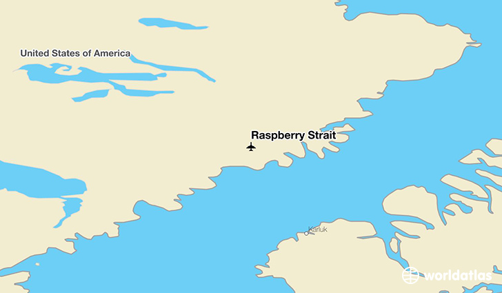 Raspberry Strait location on a map