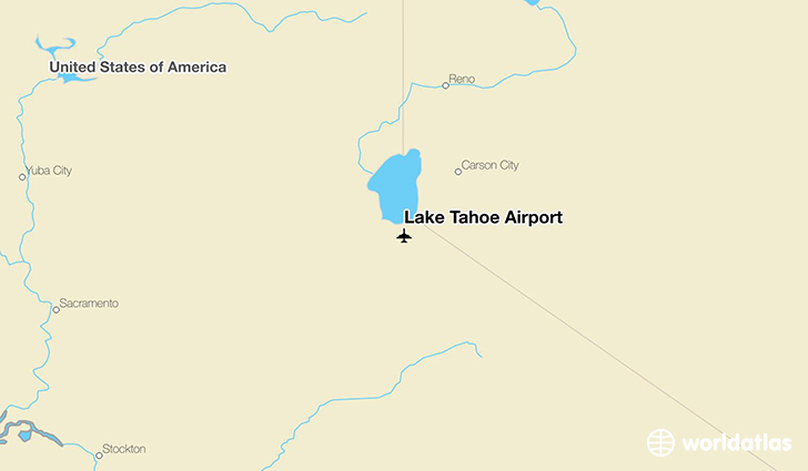 Lake Tahoe Airport location on a map
