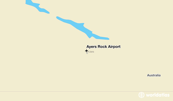 Ayers Rock Airport location on a map