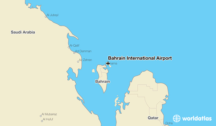 Bahrain International Airport location on a map