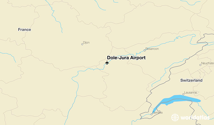 Dole–Jura Airport location on a map