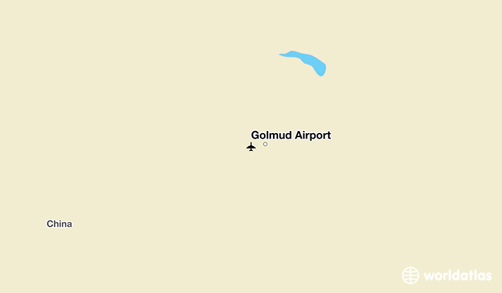 Golmud Airport location on a map