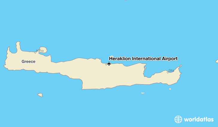 Heraklion International Airport location on a map