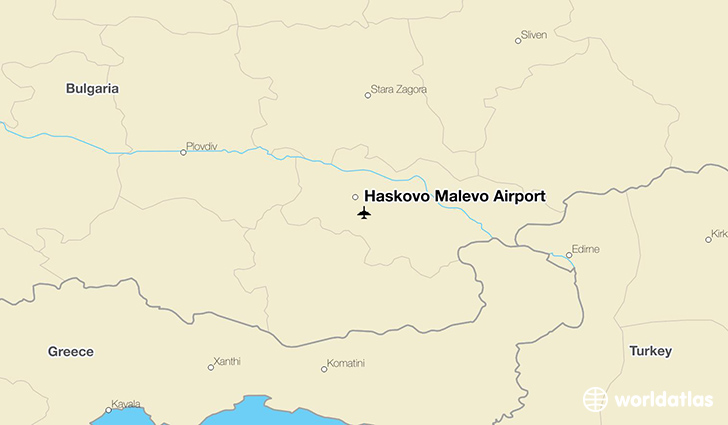 Haskovo Malevo Airport location on a map