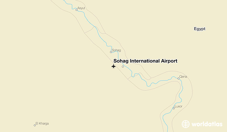 Sohag International Airport location on a map