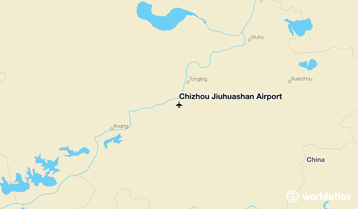 Chizhou Jiuhuashan Airport location on a map