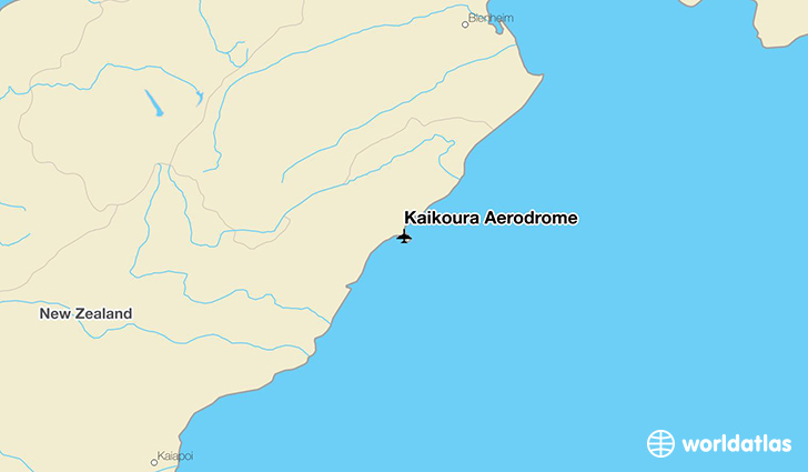 Kaikoura Aerodrome location on a map
