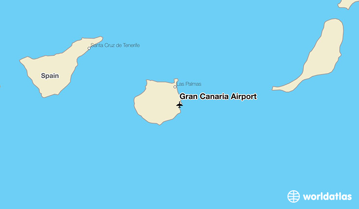 Gran Canaria Airport location on a map