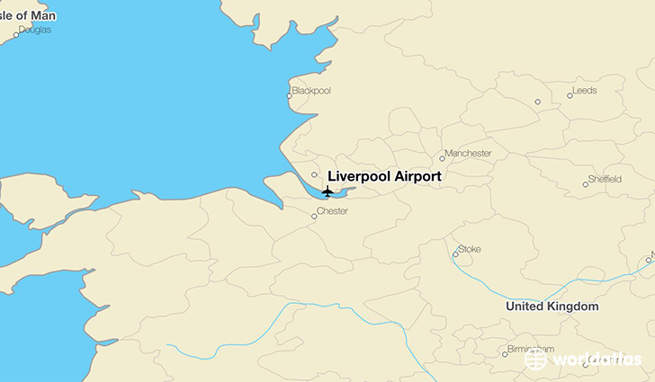 Liverpool Airport location on a map