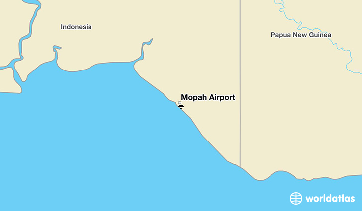 Mopah Airport location on a map