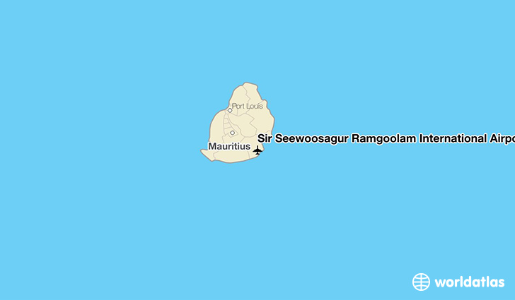 Sir Seewoosagur Ramgoolam International Airport location on a map