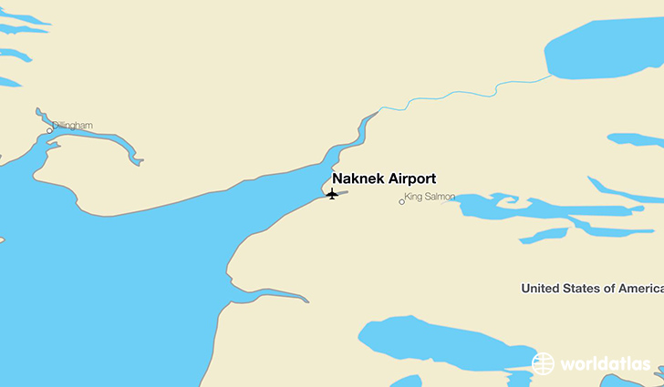 Naknek Airport location on a map