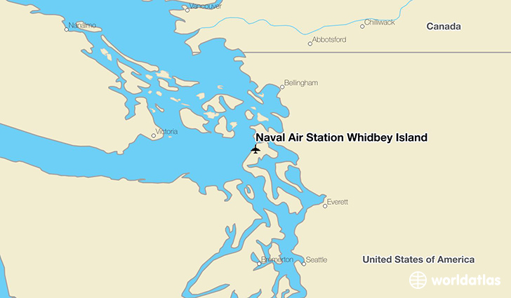 Naval Air Station Whidbey Island location on a map