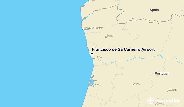 Francisco de Sá Carneiro Airport location on a map