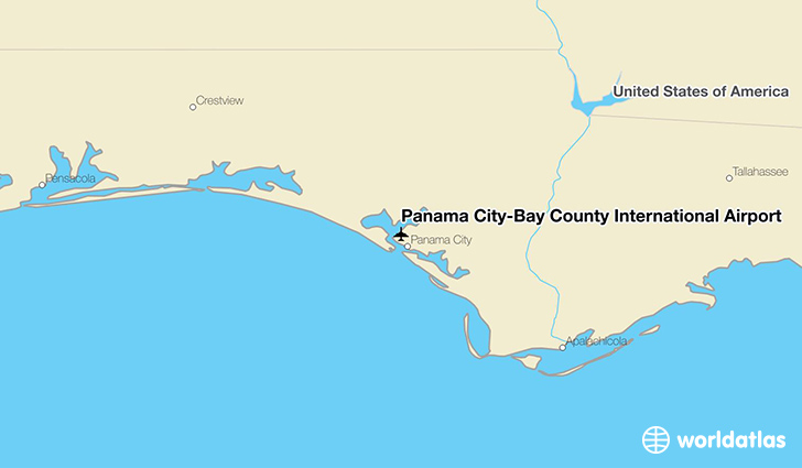 Panama City-Bay County International Airport location on a map