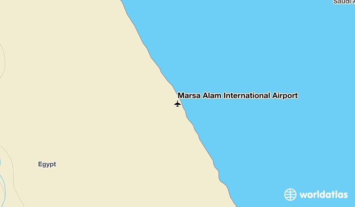 Marsa Alam International Airport location on a map