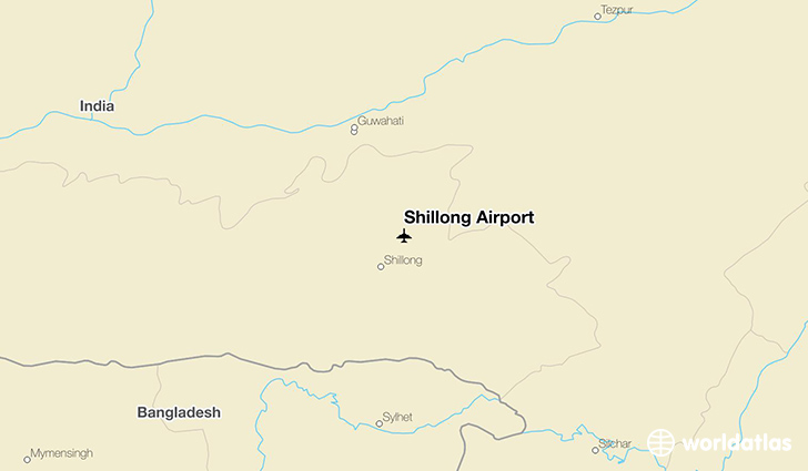 Shillong Airport location on a map