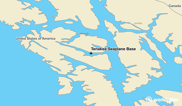 Tenakee Seaplane Base location on a map
