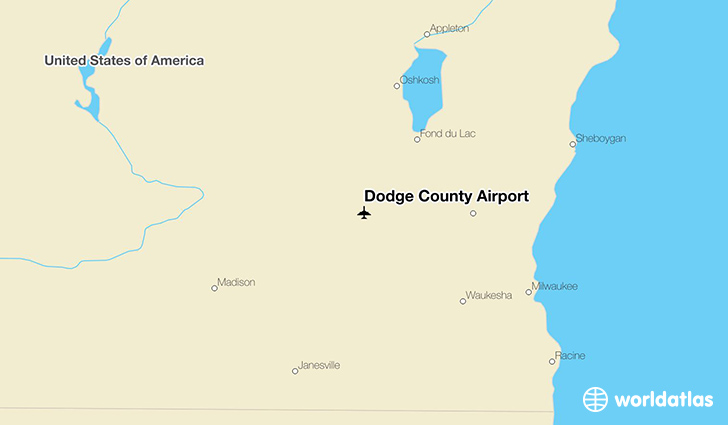Dodge County Airport location on a map