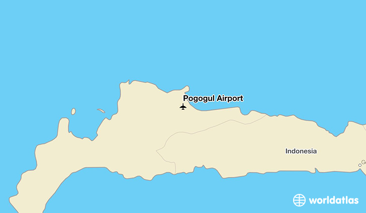Pogogul Airport location on a map