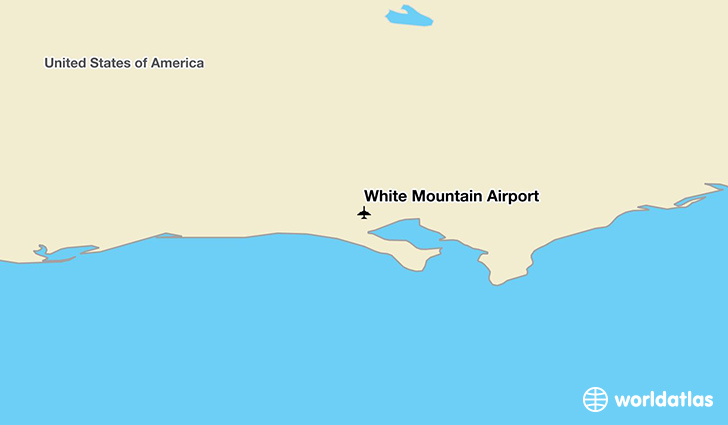 White Mountain Airport location on a map