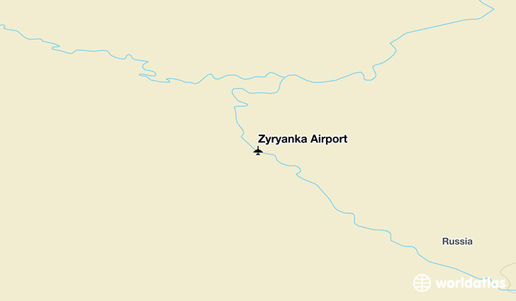 Zyryanka Airport location on a map