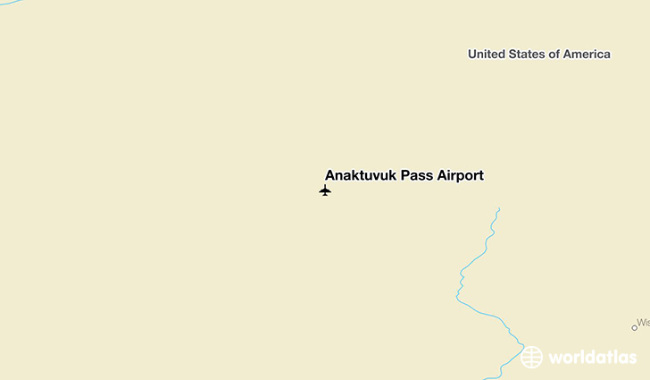 Anaktuvuk Pass Airport location on a map