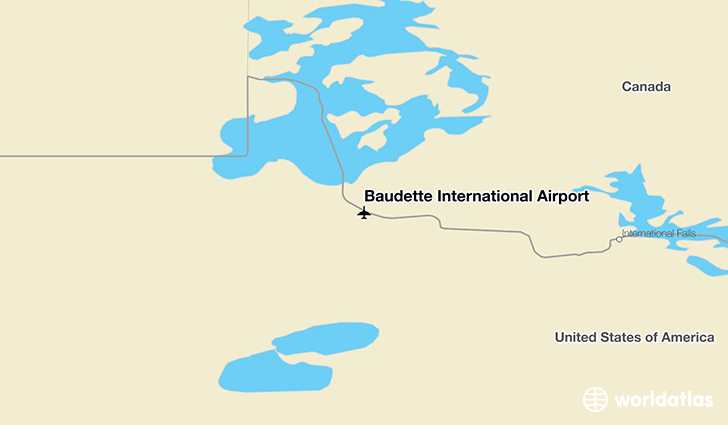 Baudette International Airport location on a map