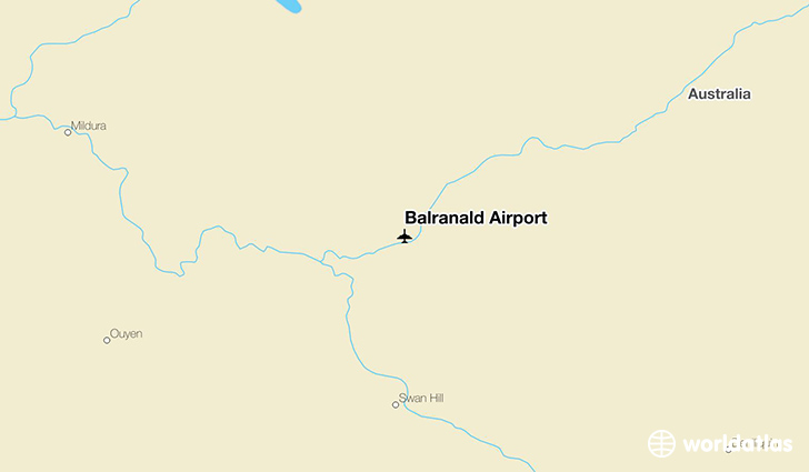 Balranald Airport location on a map