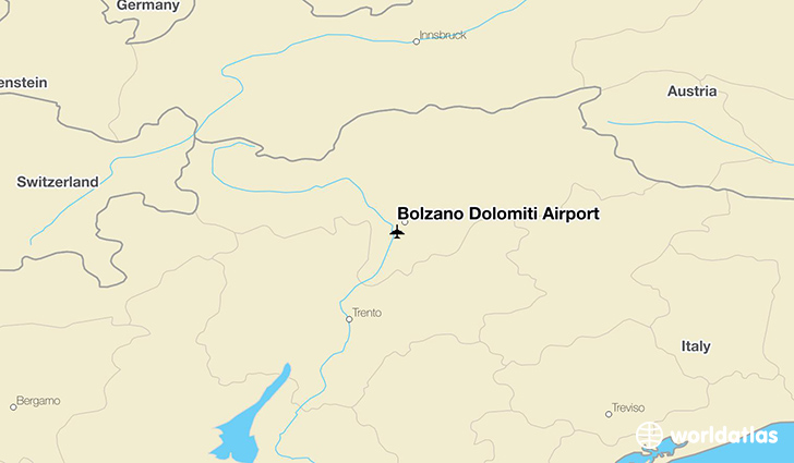 Bolzano Dolomiti Airport location on a map