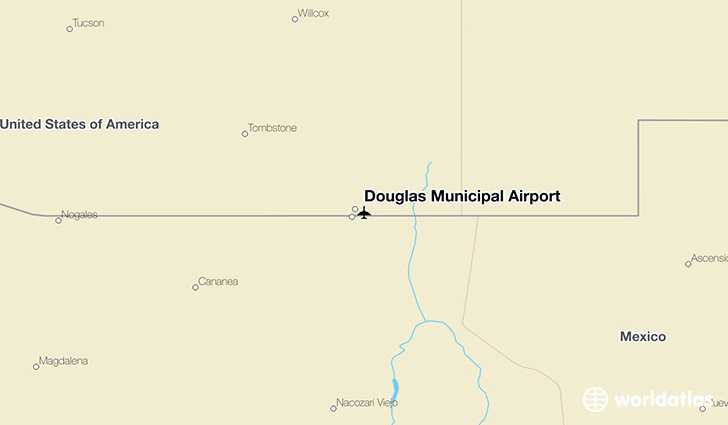 Douglas Municipal Airport location on a map